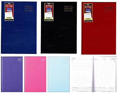 2019 A4 / A5 / A6 Diary Day to Page or Week to View Desk Diary Hard Backed Diary