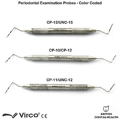 Endodontic Periodontal Color Coded Marking Probes Williams UNC CP-10-11-12-15 CE