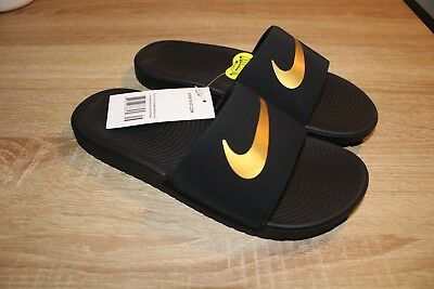 016bafeac4da5 NEW YOUTH NIKE Kawa Slide Sandal Style 819352-001 Black 183H lr ...