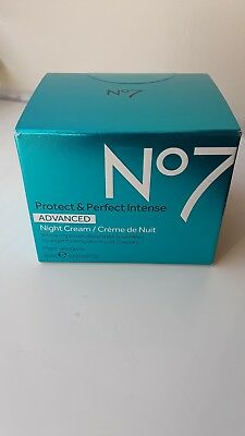 No. 7 Anti Aging Protect & Perfect Advanced Night Cream w/ SPF 30 Brand New