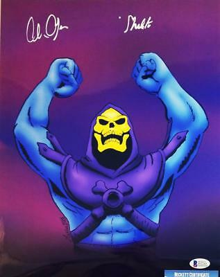 Alan Oppenheimer Skeletor Signed Motu 11X14 Metallic Photo Bas Coa 241