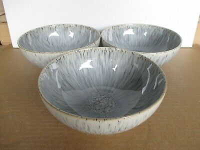 Denby Halo Speckle 3 x Coupe Cereal Bowls New First Quality Excellent Condition