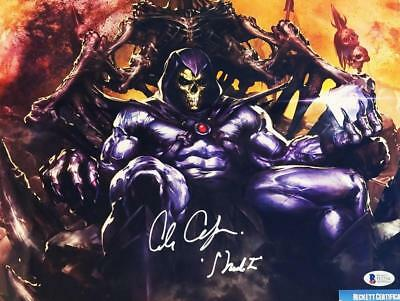 Alan Oppenheimer Skeletor Signed Motu 11X14 Metallic Photo Bas Coa 234