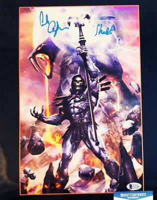 Alan Oppenheimer Skeletor Signed Motu 11X14 Metallic Photo Bas Coa 244