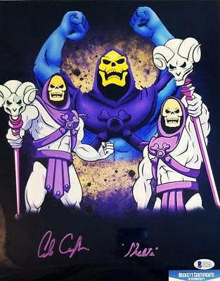 Alan Oppenheimer Skeletor Signed Motu 11X14 Metallic Photo Bas Coa 243