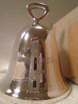 Antique Vintage 50 YEAR OLD Silver Bell Christmas Ornament EXCELLENT IOB