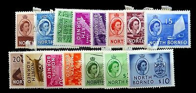 NORTH BORNEO 1954 Complete to $10 SG372/86 Mounted Mint (Ex 2c Used) NK827