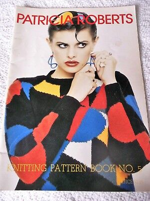 ORIGINAL, VINTAGE, 1979, PATRICIA ROBERTS 5th KNITTING PATTERN BOOK.