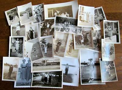 Lot of 28 Vintage 1930's Photos Lovely Women at Cemetery Some European #12