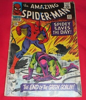 The Amazing Spider-Man #40, A Silver Age Classic, Origin Of Green Goblin!!