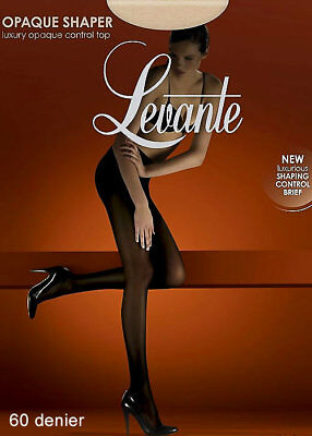 Levante Opaque Shaper Control Top Tights - Shaping Tights, Opaques, 60 Denier