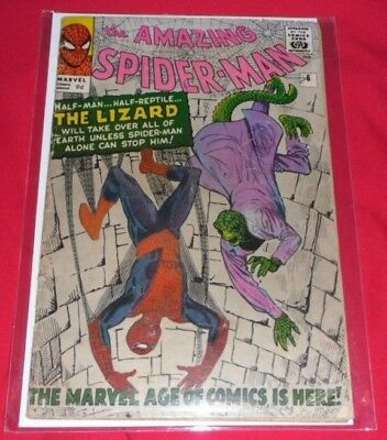 Amazing Spiderman 6# 1964 1St Lizard And Good Condition Writing Small At The Top