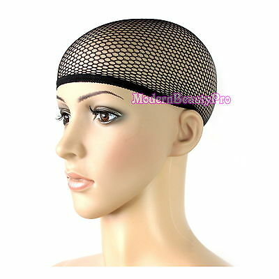 Cool Mesh Stretch Fabric Breathable Liner Wig Cap Control Hair Under Wigs Black