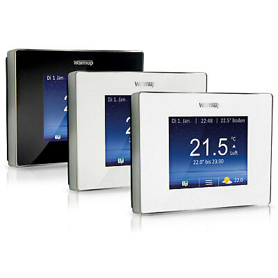 "Warmup 4iE Smart Wifi Termostato Programmabile 3,5 "" Touch Display Colore"