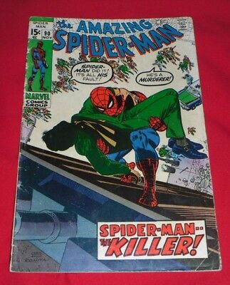 Amazing Spiderman 90# November 70 Spiderman The Killer, Great Comic !