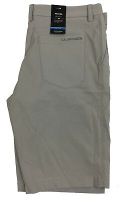 Galvin Green Parker Ventil8 Plus Golf Shorts - W38 - Steel Grey - RRP£80