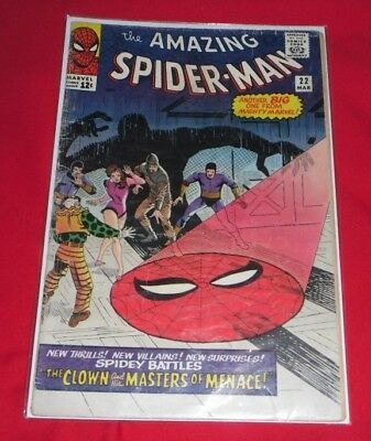 Amazing Spider-Man #22 - 1965 ..HAS A COUPLE OF LOOSE PAGES AND ONE MISSING,
