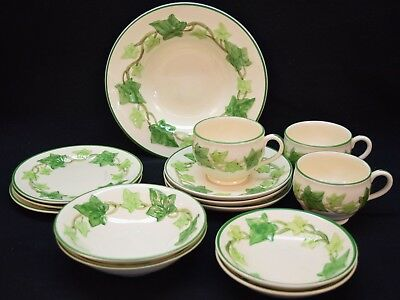 Mixed Lot of 14 Franciscan Ivy Dinnerware, Various Stamps