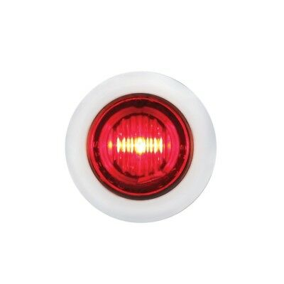 Stainless Steel Red Led Mini Clearance/marker Light - Red Lens