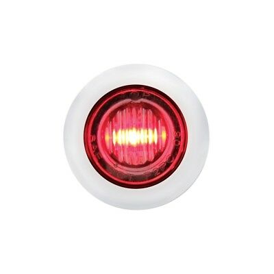 Stainless Steel Red Led Mini Clearance/marker Light - Clear Lens