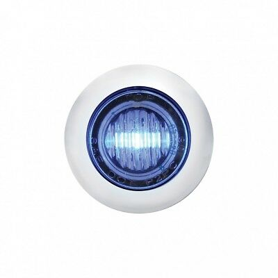 Stainless Steel Blue Led Mini Clearance/marker Light - Clear Lens