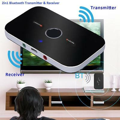 2 in 1 Mini Bluetooth Transmitter Receiver Wireless Music A2DP Audio Aux Adapter