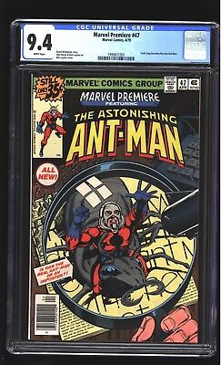 Marvel Premiere 47 CGC 9.4 NM Scott Lang becomes Ant-Man Layton cover Marvel