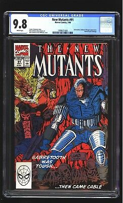 New Mutants 91 CGC 9.8 NM/MINT Sabretooth Masque Rob Liefeld cover Marvel 1990