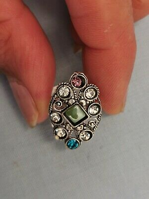 New Rhinestone Crystal Silver Bollywood Indian Vintage Style Toe Ring Adjustable