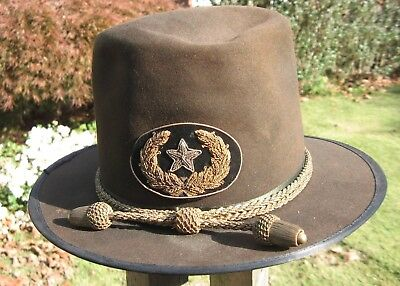 General Officer Slouch Hat With Insignia---Perfect Condition