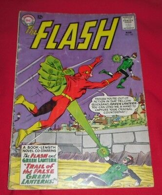 The Flash 143 #march 64 Trail Of The False Green Lantern Very Rare And Desirable