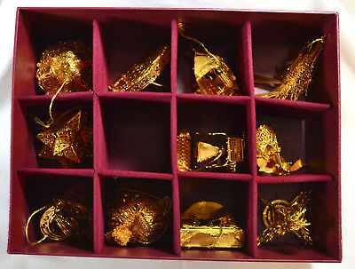 Danbury Mint, Gold Christmas Ornament Collection, 2001-2002 Mix, One Broken