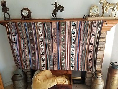 Vintage Navajo Rug New Lands/ Raised Outline 30x56 Collector quality 1970s