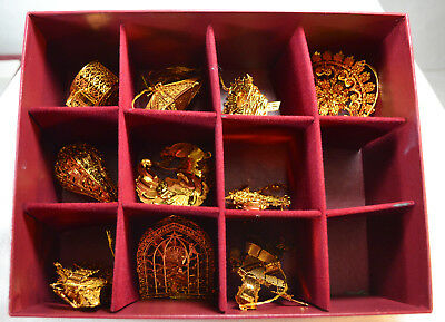 Danbury Mint, Gold Christmas Ornament Collection, 2004 Collection