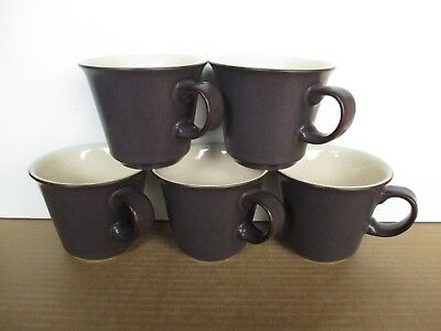 Denby Pottery Energy 5 x Cafe Cups New First Quality Excellent Condition