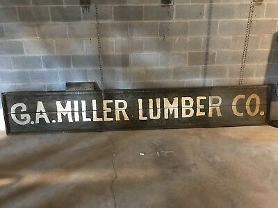 Antique Wooden Painted Advertising Sign G.A. Miller Williamsport MD 12' Long !!