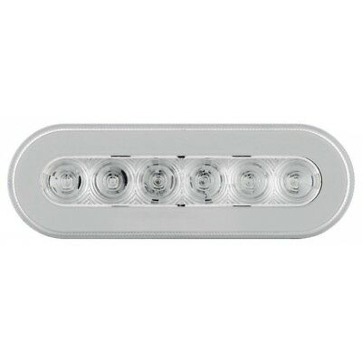 """2 Red Led 6"""" Oval """"Glo"""" S/T/T Light - Clear Lens"""