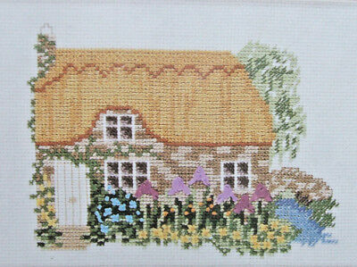 Cross Stitch Kit with Ribbon Embroidery - WATERSIDE COTTAGE - Twilleys 1931