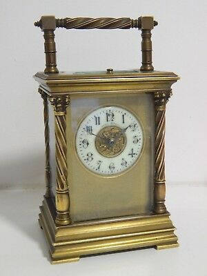 Antique French Carriage clock Charles Hour HR Movement  - Case ? John Mason A/F