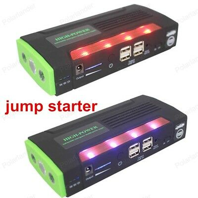 Car Jump Starter Battery Charger Auto Power Bank Muti-function With Pump 4 USB