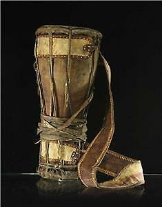 Antique Pakhawaj Indian Dholak Double Sided Rope Tension Drum