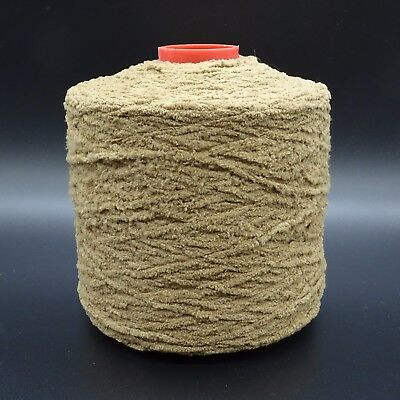 Knitting Machine Cone Yarn Brown Chenille 1 lb 9.4 oz Total Weight