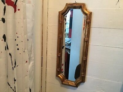 Vintage Gold Gilt Wood Mirror - Hollywood Regency - Made in Italy
