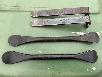 Vintage Dunlop & Romac tyre levers, bicycle, motorbike, made in England,