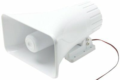 Steren 807-588 5 x 8 Inches 40W Speaker Horn White Cable