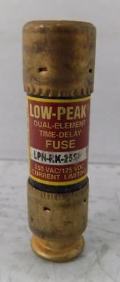 Bussmann 25A 250Vac Low-Peak Fuse Lpn-Rk-25Sp *lot Of 3*