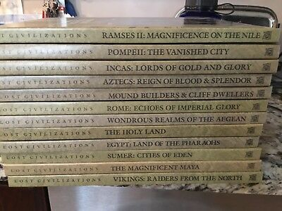 Lost Civilizations 12 Volumes Time-Life Books Hard Cover-Excellent