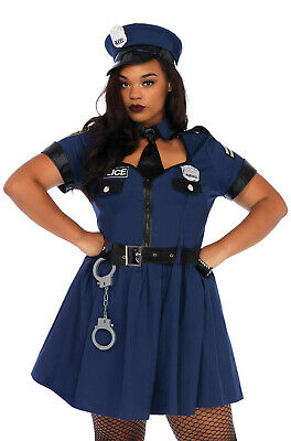 Brand New Flirty Police Officer Cop Plus Size Costume