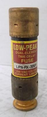 Bussmann 30A 250Vac Low-Peak Fuse Lpn-Rk-30Sp *lot Of 3*