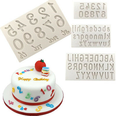 Letters and Numbers Silicone fondant mold cake decorating tool chocolate C!C